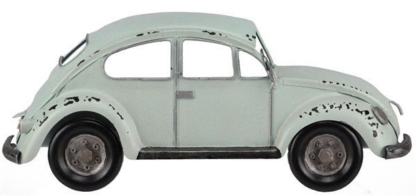 "12""L X 5""H Half Bug Car Wall Decor White"