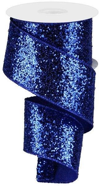 "2.5""X10yd Large Glitter Royal Blue"