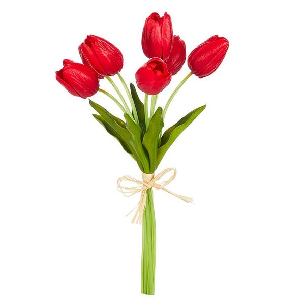 """14"""" REAL TOUCH RED TULIP BUNDLE"""
