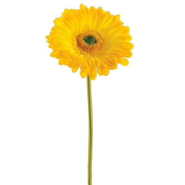 "9"" Large Gerbera Daisy Stem  Yellow"