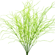 "Plastic Bead Grass Bush X 11, 20""H"