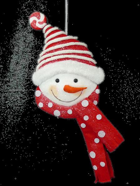 ORN Snowman Beanie 9x2x20