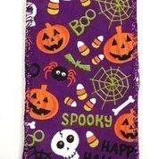 "Purple Linen Fun Halloween 2.5""x10yd"