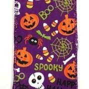 "Purple Linen Fun Halloween 2.5""x10yd"