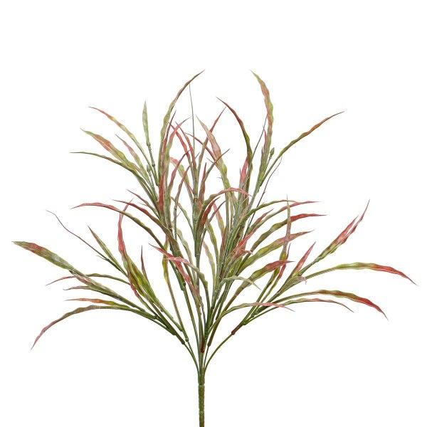 "FLAT GRASS BUSH 16""X21"" RED/GREEN"