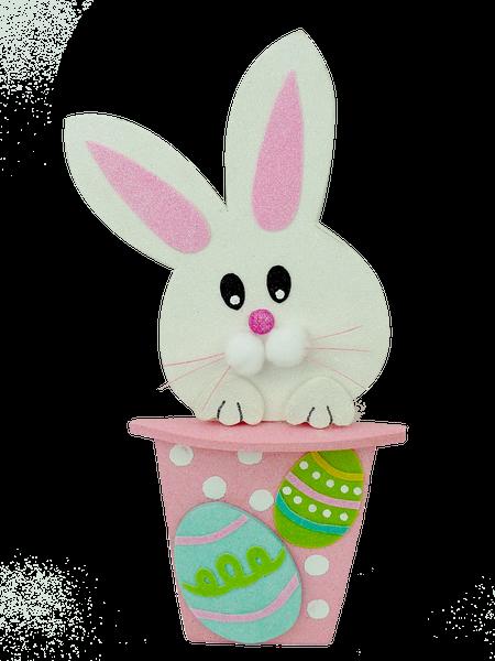 Glitter Bunny In A Pot W8xH17.5