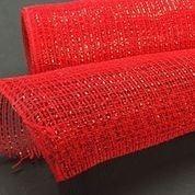 "Red Metallic Fabric Mesh 10""x10yd"