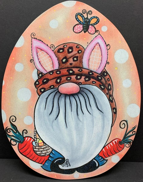 Gnome Easter Sign By Iveth Wright (Print on Wood)