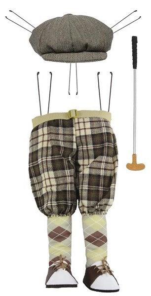 "3 Pc 30""Hx10""L Vintage Golfer Decor Kit"