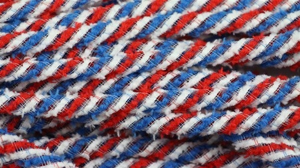 8Mm X 20Yd Snowdrift Deco Flex Tubing Red/White/Blue