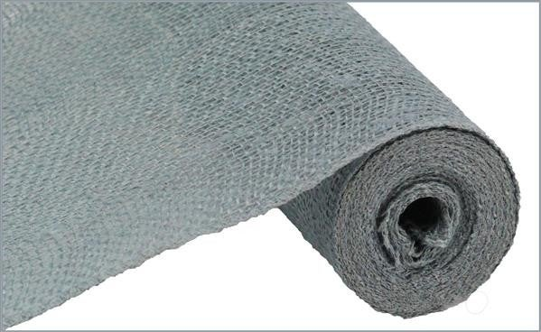 "12""X10YD COLORFAST LOOSE WEAVE BURLAP GREY"