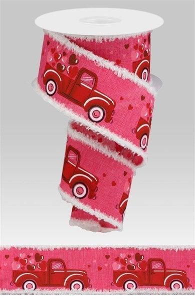 """2.5""""X10yd Truck/Heart/Drift Hot Pink"""