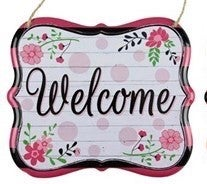 "7""Lx6""H Welcome Tin Sign"