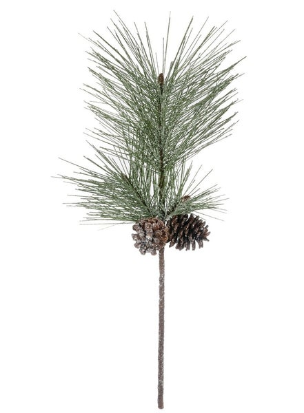 Frosted PINE W CONES SPRAY