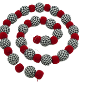 FABRIC BALL GARLAND 4FT