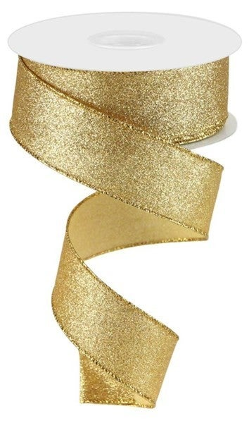 "1.5""X10yd Shimmer Glitter Gold"