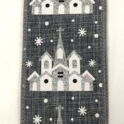 "Grey Linen/Snowy Church 2.5""x10yd"