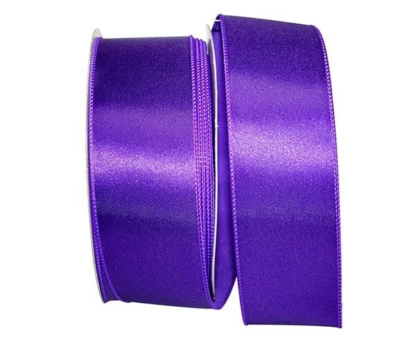 VS 12-40 - Satin Value Wired Edge, Purple, 2-1/2 Inch, 50 Yards