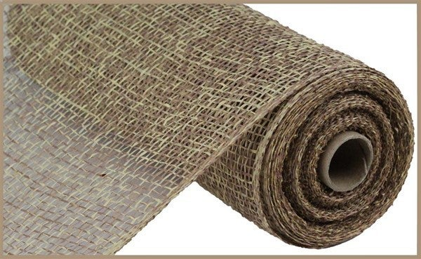 """10""""X10YD TWO-TONE POLY BURLAP MESH Color: Beige/Brown"""