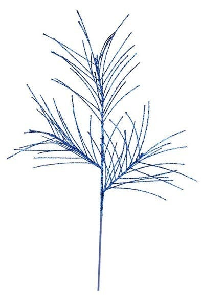 "31""L Glittered Pine Spray Royal Blue"