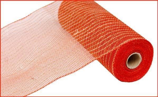 """10.5""""X10yd Poly/Jute Mesh Orange/red/natural"""