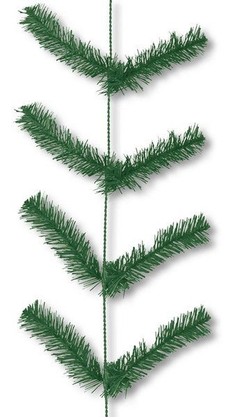 "12"" X 9' Work Garland X22 Ties Green"