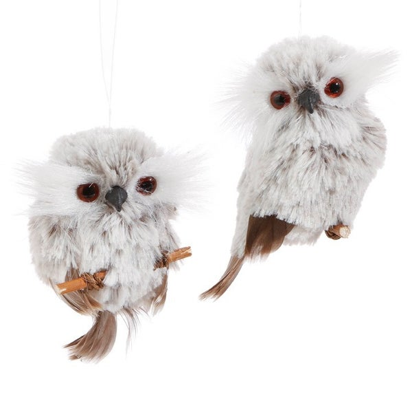 "3.5"" OWL ORNAMENT Set of 2"