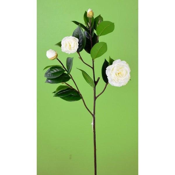 "28"" CAMELLIA SPRAY White"