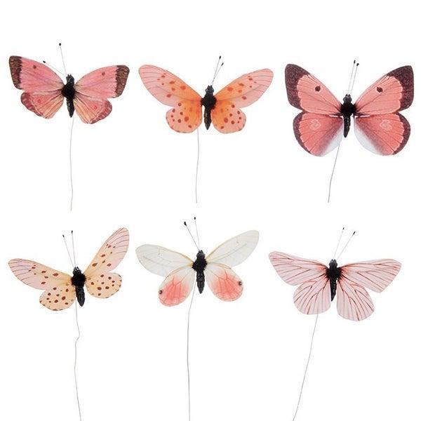 """3"""" PINK BUTTERFLIES Pink"""