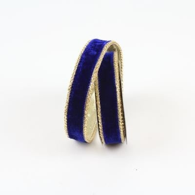 "ROYAL VELVET RIBBON - 1"" X 10YD / BLUE"