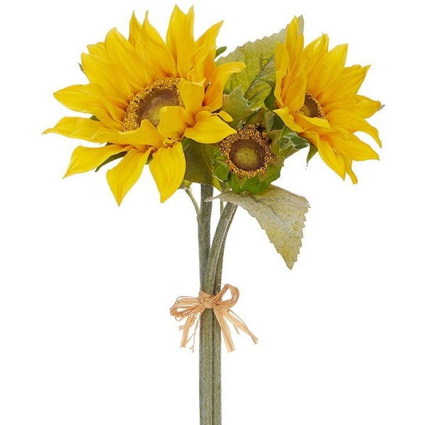 """16"""" Real Touch Sunflower Bundle"""