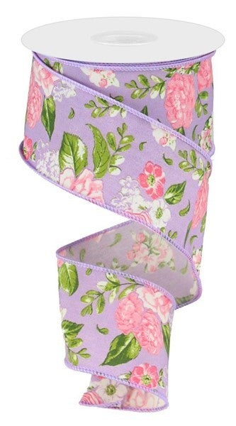 "2.5""X10yd Floral Lavender"