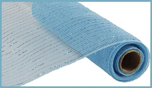 "10.25""X10YD METALLIC MESH Color: Turq Blue W/Turq Foil"