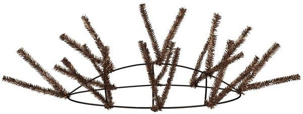 """15""""Wire,25""""Oal-Work Table Rail Chocolate"""