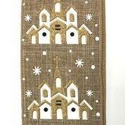 "Natural Linen/Snowy Church 2.5""x10yd"