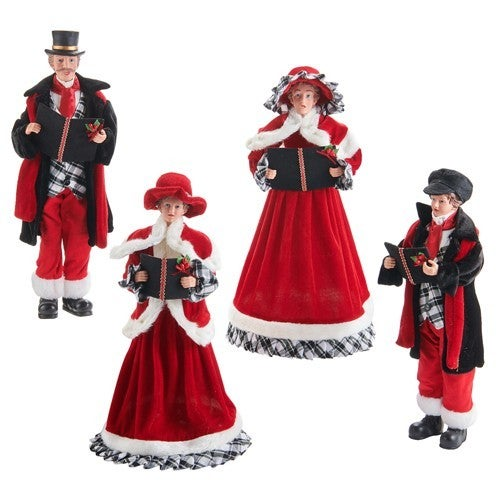 """Christmas Time in The Village 17.75"""" CAROLERS Set of 4"""