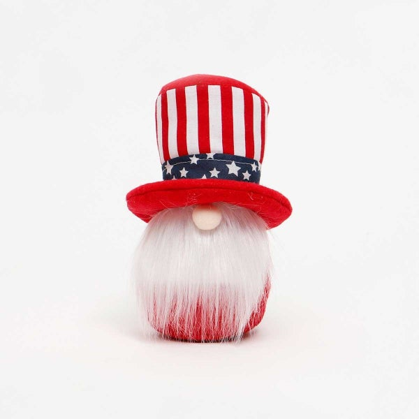 "UNCLE SAM GNOME with AMERICANO HAT SMALL 3""X7"""