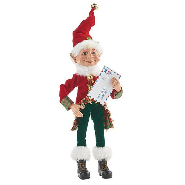 "12"" Posable Elf with Letter 4002317"