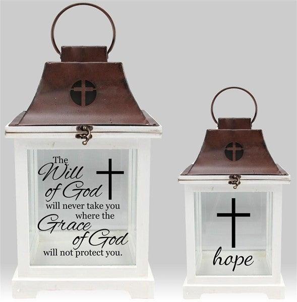 Set of 2 Lanterns, Will Of God/Hope
