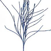 Glitter Twig Spray H43 Blue