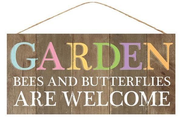 """12.5""""L X 6""""H Garden/Bees/Butterflies"""