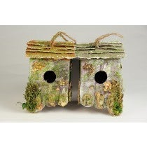 BIRDHOUSE HANGING BARK/LICHEN WALL 4""