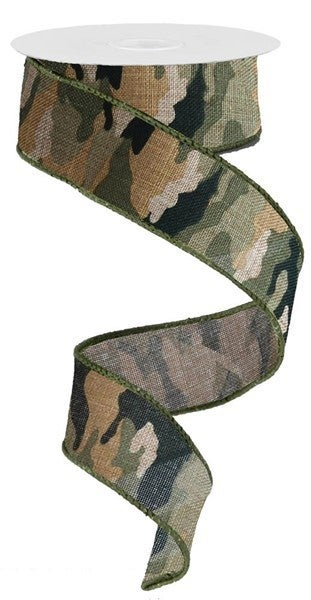 "1.5""X10yd Camouflage/Royal"