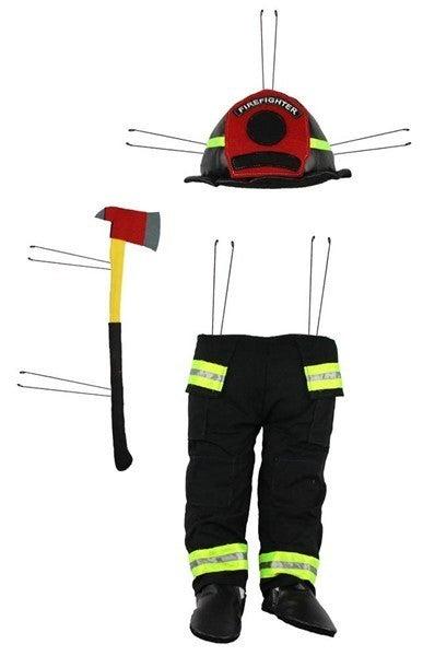 "3Pc 28""H X 8.5""L Firefighter Decor Kit"