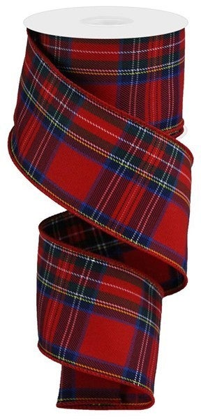 "2.5""x10yd Plaid Red/Blue/Navy/Green/White/Yellow"