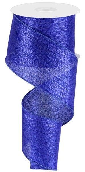 """2.5""""X10yd Vertical Metallic Stripe Royal Blue"""