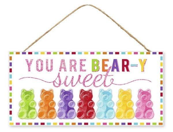 """12.5""""L X 6""""H You Are Bear-Y Sweet Glttr"""