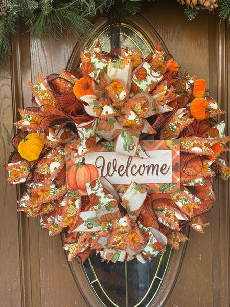 Fall Deco Mesh Wreath by Zack