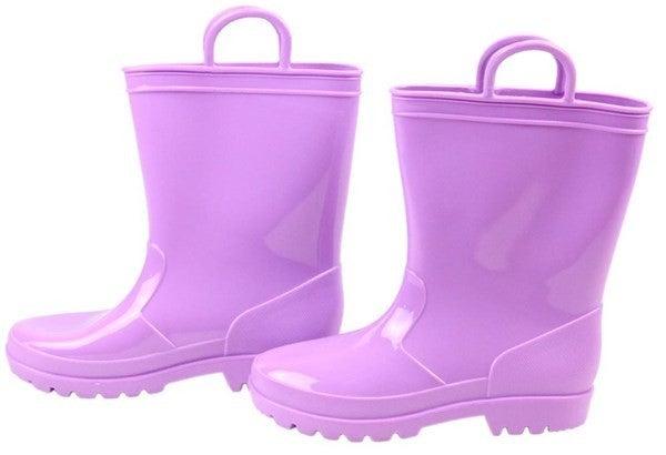 Pvc Rain Boots W/Loops -  Purple