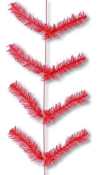 "12"" X 9' Work Garland X22 Ties Red"